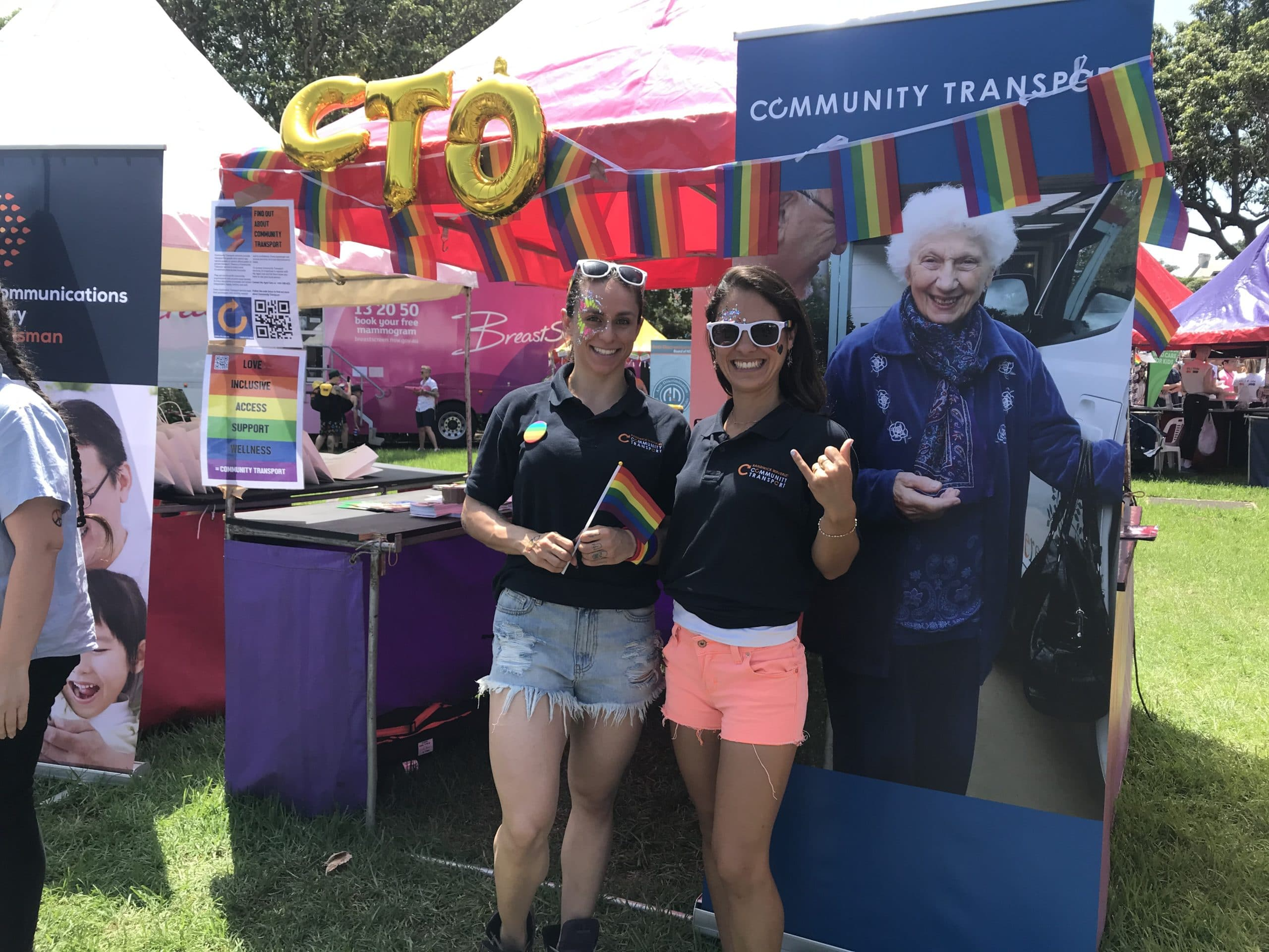 Mardi Gras Fair Day Promoting Community Transport, love, inclusivity, access, support and wellness